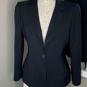 ROBERTO CAVALLI    navy blue blazer size 46
